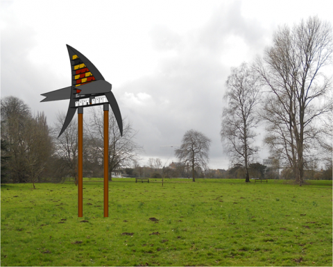 Mock up image of how the winning design would look installed in a park